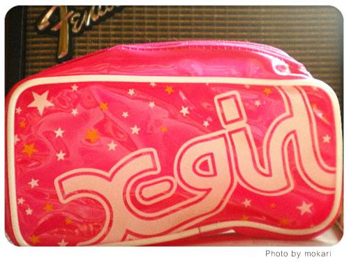 20080619-ファッション誌mini(2008年7月)の付録のX-girlのビニールポーチだよ。