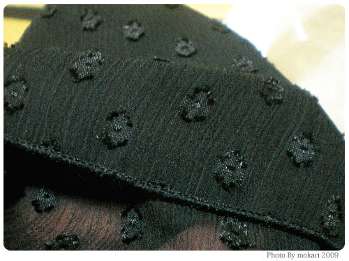 20090118-14 黒いフォーマルドレスをニッセンで買いました。