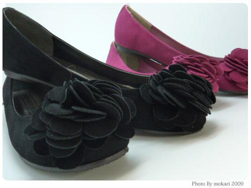 20091019-7 ANITA ARENBERG「フラワーモチーフバレーパンプス」安くて色が豊富。