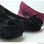 ANITA ARENBERG「フラワーモチーフバレーパンプス」安くて色が豊富
