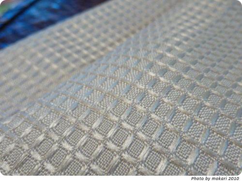 20100123-4 ニッセンのワッフルカーテン洗濯機洗い可。洗いがえに。