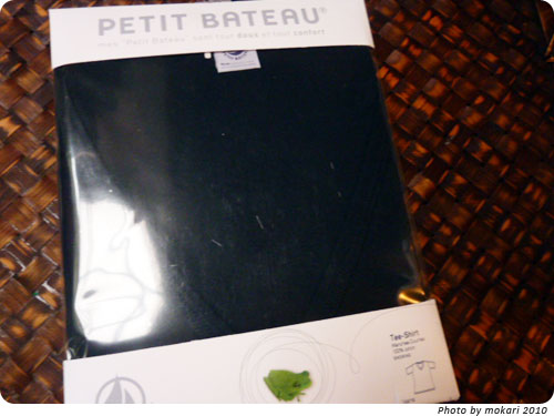 PETIT BATEAU(プチバトー)のVネック半袖Tシャツ