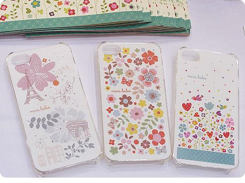 20110522-1 お花、コトリ。パリな空気でゆるりとカワイイ、iPhone4用カバー