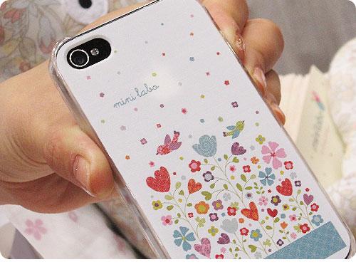 20110522-14 お花、コトリ。パリな空気でゆるりとカワイイ、iPhone4用カバー