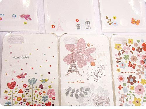20110522-2 お花、コトリ。パリな空気でゆるりとカワイイ、iPhone4用カバー
