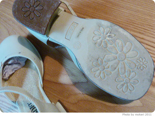 20111018-12 キャサリンコテージで買った、子ども用フォーマルシューズかわいい