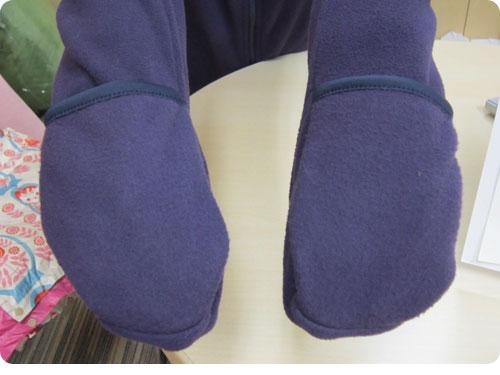20111219-4 自転車通勤やお散歩に「手袋つきフリースブルゾン」あったかアウター
