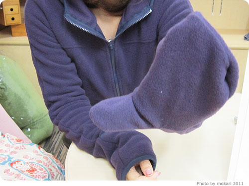 20111219-8 自転車通勤やお散歩に「手袋つきフリースブルゾン」あったかアウター