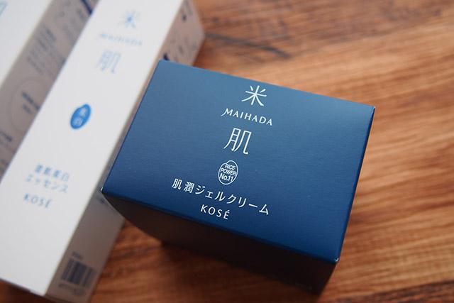 KOSE米肌 肌潤ジェルクリーム 外箱デザイン