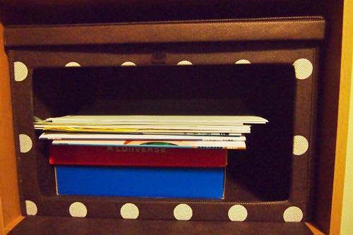 P5072687 カラーボックスに扉付きのボックスを採用