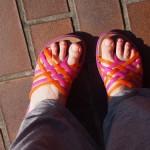クロックスのサンダルで近所に買い物に出かけた時の感想(huarache flip-flop w)