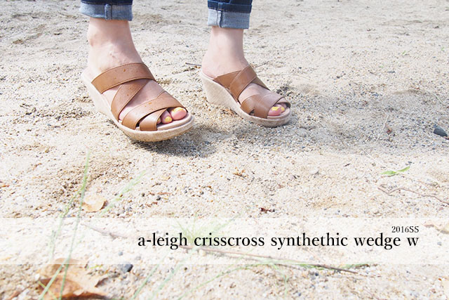 a-leigh crisscross synthethic wedge w