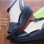 Leigh-Ann Ankle Strap Leather Mini Wedge