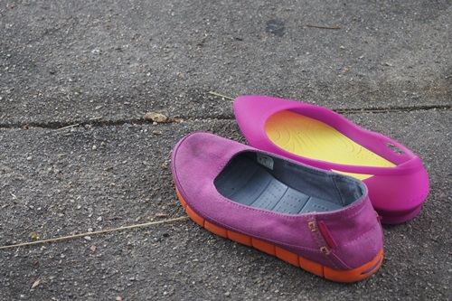 P6186322 crocs rio flat wの履き心地