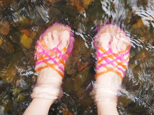 P6186907 小川で水遊びするのによいサンダル