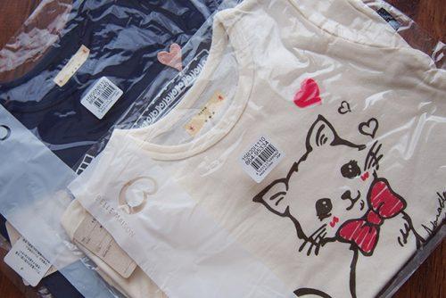 3歳の夏の通園服にGITAのTシャツ