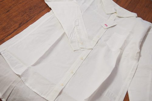 綿素材ゆるシルエットダーリンシャツ