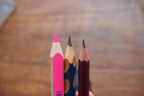 鉛筆を削った図