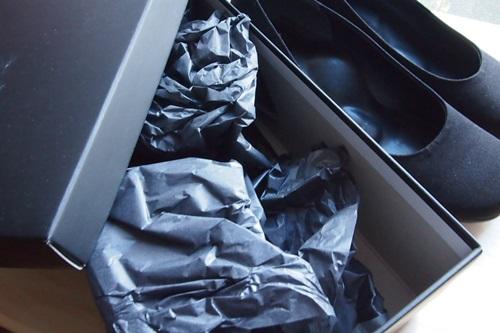 PC023391 お悔みの場にふさわしいブラックフォーマル布製パンプス購入