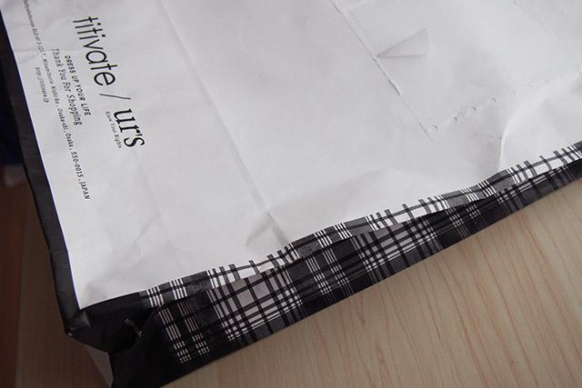 titivateのショップ紙袋のデザイン