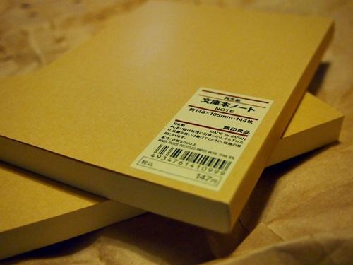 PC270384 無印良品の文庫本ノートラブ