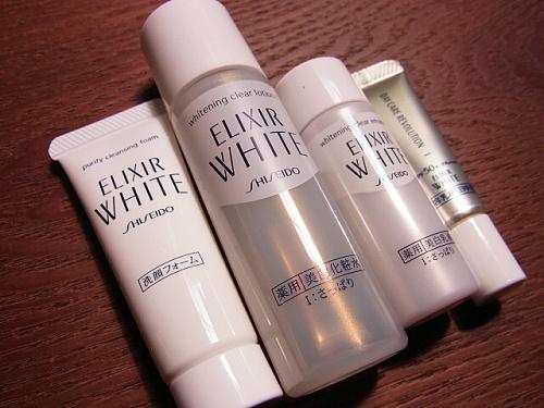 エリクシールホワイトのトライアルサイズの化粧品の一覧
