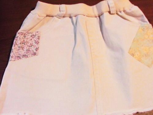 R1155391 韓国子供服:Amberのデニムミニ、かわいいよ♪