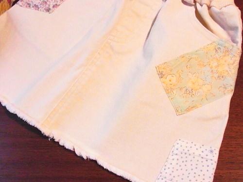 R1155392 韓国子供服:Amberのデニムミニ、かわいいよ♪
