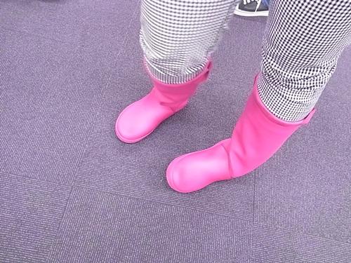 R1158665 軽くてやわらかくて長靴っぽくない、レインフロー ブーツ