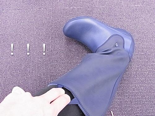 R1158671 軽くて長靴っぽくない、やわらかいレインフローブーツ